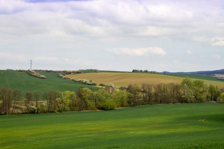 Rural landscape. Farmland. Agriculture. Photo in the Czech Republic, Europe Stock Photo