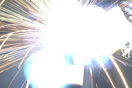 resplendence: Welding steel with sparks