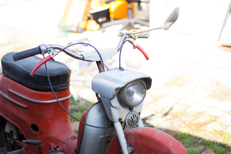 古いバイク、生産年 1970 年生産チェコ共和国, ヨーロッパ 写真素材