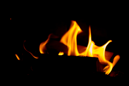 HDR phtoho, Fire place, on black background, abstraction