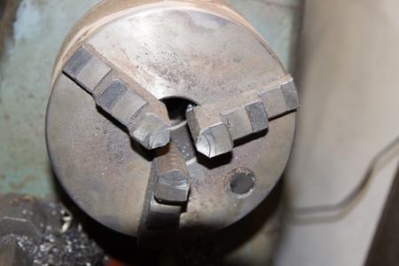 door handle: Old, functional lathe. (Made in Czechoslovakia) Stock Photo
