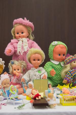 Retro baby dolls from 60-70. 20th century.