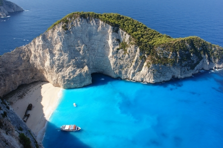 Navagio Beach on the Island of Zakynthos photo