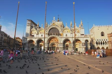 st  mark s: Pomeriggio in Piazza San Marco s a Venezia, Italia