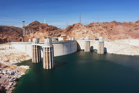 View of the Hoover Dam and Lake Mead photo