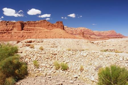 echo: View of the Echo Cliffs near the Navajo Bridge, Arizona Stock Photo