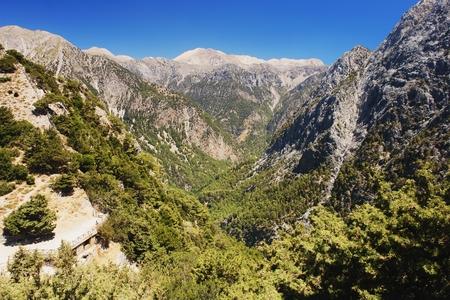 samaria: View of the Samaria Gorge, Crete, Greece