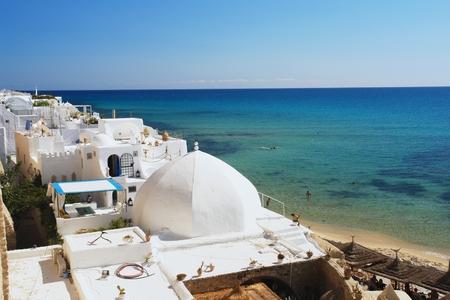 medina: View of the Medina in Hammamet, Tunisia