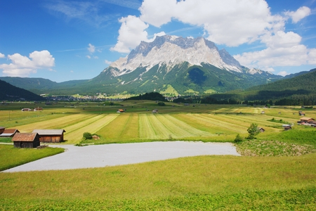 tyrol: View from the meadow to the Zugspitze, Austria