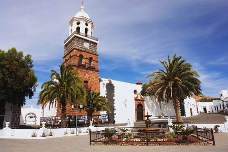 lanzarote: View of the church in the Teguise, Lanzarote Stock Photo