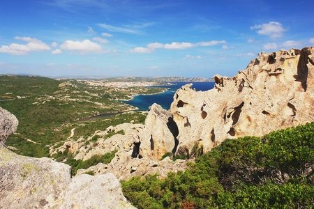 View from Capo d Orso of the town Palau, Sardinia Stock Photo - 29180475