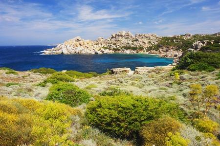 capo: Capo Testa, view of the coast of Sardinia Stock Photo