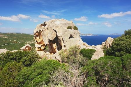 View from Capo d Orso on rocky bear, Sardinia Stock Photo - 29180296