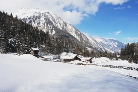 rauris: Winter landscape in the Hohe Tauern, Austrian Alps Stock Photo