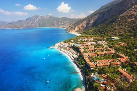 oludeniz: View of the coast in Oludeniz, Turkey Stock Photo