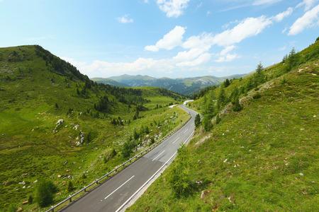 alp: Alpine Road Nockalm in Carinthia, Austria