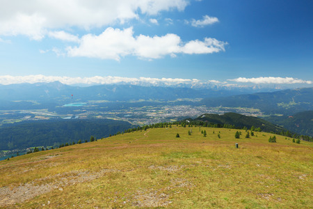 Panorama of the Alps from the top of Gerlitzen, Carinthia, Austria Stock Photo
