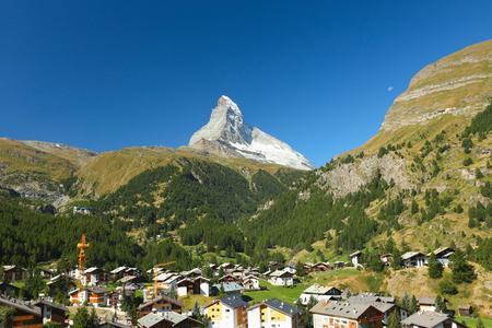 valais: View of the Zermatt and the Matterhorn, Valais, Switzerland