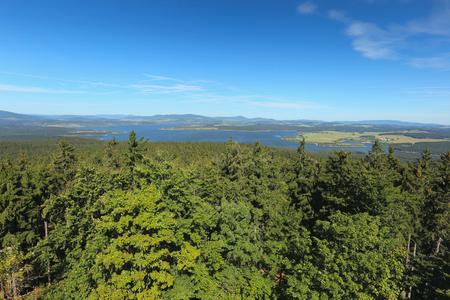 lipno: View of the lake Lipno, Czech Republic Stock Photo
