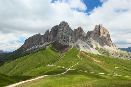 sella: Dolomites, view of the Sassolungo, Italy