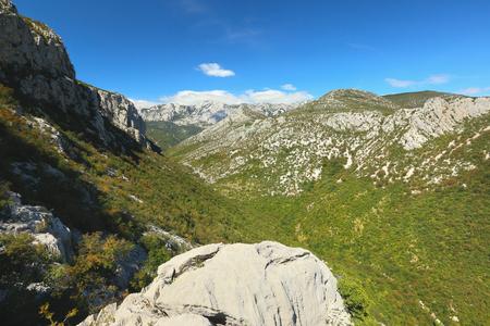 Valley and mountains Velebit in National Park Paklenica, Dalmatia, Croatia