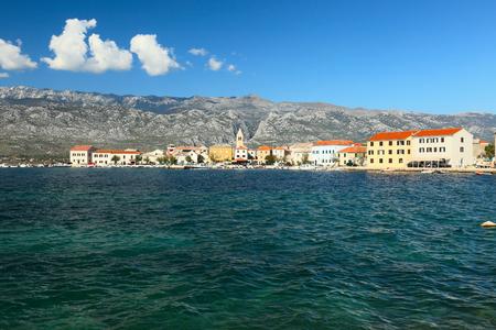 View of seaside resort Vinjerac near Zadar, Dalmatia, Croatia