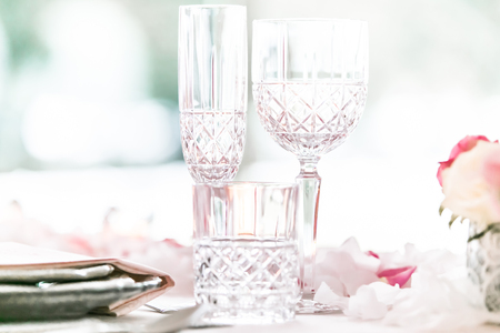 Crystal glass of baccarat