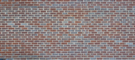 building feature: Panoramic brown grey bricks wall