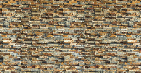 stone wall texture: Rectangular colorful stone wall - abstract background texture Stock Photo