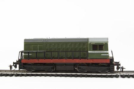 green locomotive- miniature Stock Photo
