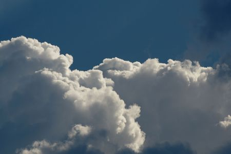 clouds on the blue sky Stock Photo