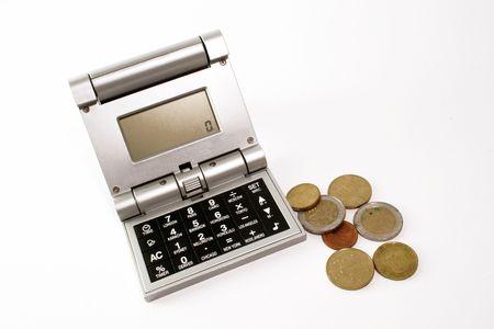 calculator and bills Stock Photo