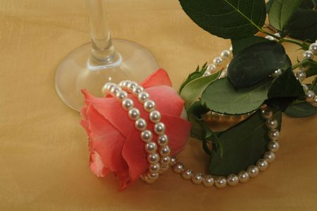 rose and string pearls