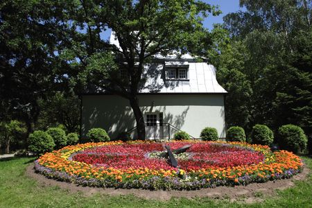 floral clock in the park