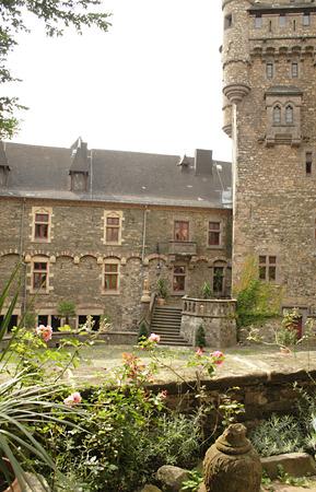 courtyard in castle