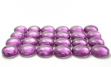 violet pebbels Stock Photo