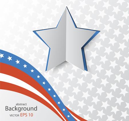 presidents day: Illustration of abstract American background