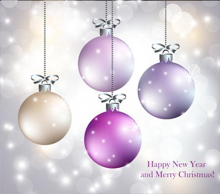 Christmas abstract card. Christmas balls photo