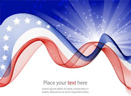 미국 국기의 추상 이미지