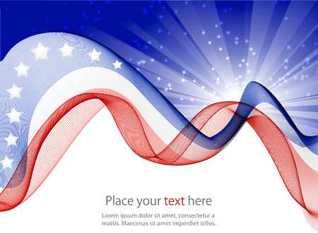 starr: Abstract image of the American flag Illustration