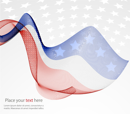 Abstract image of the American flag 向量圖像