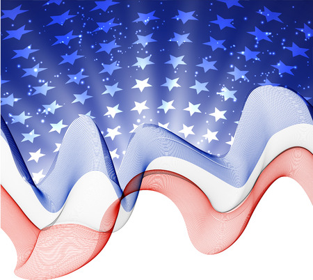 Abstract image of the American flag Vector