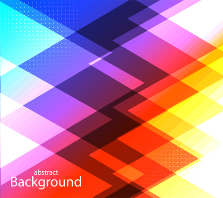 colore: Abstract colored background of the triangles Illustration