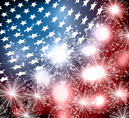 Abstract image of the American flag Illustration
