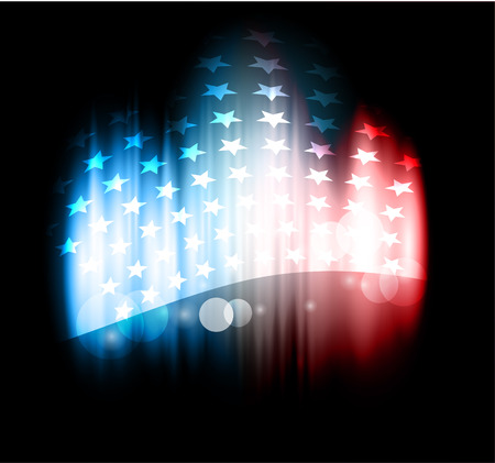 starring: Abstract image of the American flag Illustration