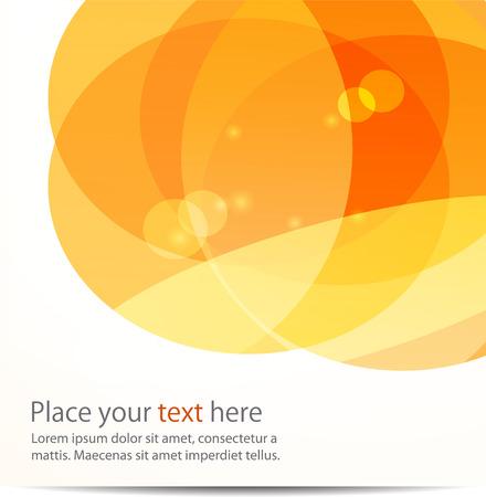 naranja: Abstract vector de luz de fondo bola, redondo Vectores