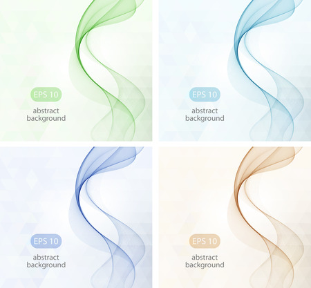 abstract waves background: Abstract color wave design element smoke,glow