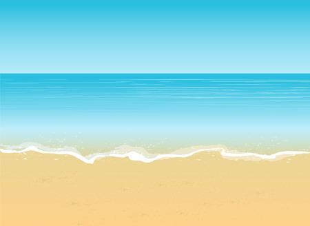 우산, 비치 의자와 플립 플롭 여름 휴가 개념 배경 한 쌍의 해변보기