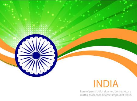independencia: Indian fondo Día de la Independencia con la democracia wheel.flag