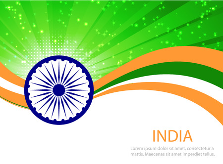 india culture: Indian Independence Day background with  wheel.flag democracy